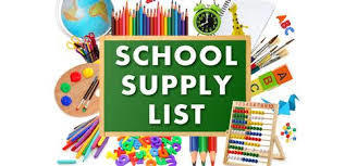 Intermediate School Supply List