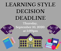 Learning Style Decision Deadline