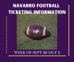 Football Ticketing Information Sept 28-Oct 2